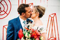 Fun London Wedding with Neon, Gin and a Pie & Mash Lunch! · Rock n Roll Bride London Bride, London Wedding, Wedding Ties, Wedding Day, Pie And Mash, English Country Weddings, Bride Veil, Groom Ties, Veil Hairstyles