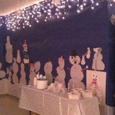 Winter party at school