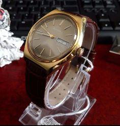 Vintage 1978 Bulova Set-O-Matic Automatic 17 Jewels- Leather Band Men's Watch #Bulova #Dress