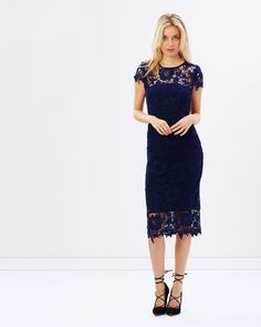 Atmos&Here Orchard Midi Lace Dress Dresses