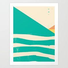 Secret Surf Map 002 Art Print by Matthew Korbel-Bowers - $18.00