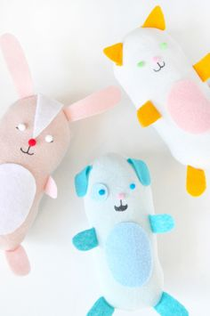 Turn odd socks into these playful animal friends!