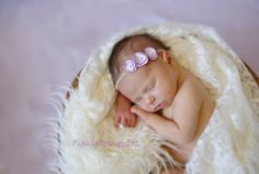 1 tiny delicate pale purple satin flower by pinkladybuggirl, $10.00