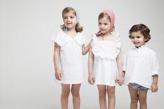 www.macali.es Little Girls, Kids Fashion, White Dress, Children, Dresses, Fashion For Girls, Dressmaking, Kids Fashion Boy, Clothing