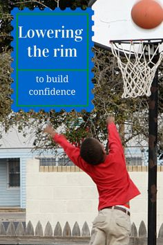 Why coaches and parents should consider lowering the rim in younger age basketball games: to build confidence: https://www.youthletic.com/cincinnati-oh/articles/lowering-the-rim?utm_source=Pinterest&utm_medium=Pin&utm_campaign=LoweringTheRim
