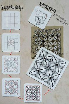 Kaurikunda 4/ Kauribena -Zentangle Muster - Tina Hunziker