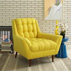 Response Fabric Armchair in Sunny