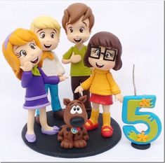 Cute Scooby-Doo Birthday Cake Topper made by Libélula Artesanal Bolo Scooby Doo, Scooby Doo Birthday Cake, 5th Birthday Cake, Kids Birthday Themes, Birthday Cake Toppers, Boy Birthday, Movie Cakes, First Communion Cakes, Paris Cakes