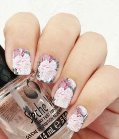 Floral nails (water decals) It's the last water decals I received from bornprettystore.com They are easy to use. It's the perfect solution if you don't know how to do nail art. I wore them for a...