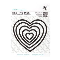 X cut 5 pc nesting dies hearts 22 to Use Xcut, sizzix, big shot machines Crafts To Do, Hobbies And Crafts, Paper Crafts, Big Shot, Sheet Storage, Craft Stash, Die Cut Cards, Plastic Sheets, Online Craft Store
