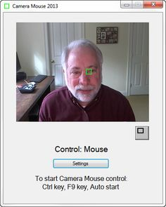 Camera Mouse -- free downloadable program that uses webcam and head position as a mouse for any computer program. Great with onscreen keyboard or cause-and-effect games for people with limited motor control of hands. Fabulous -- and FREE -- program!