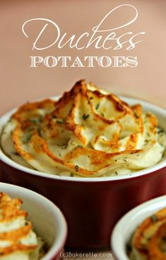 These are thee best Duchess potatoes you will ever have. They are a must with prime rib, roast pork or any special occasion. An impressive presentation. Bakerette.com