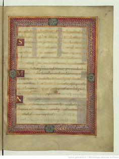 Sacramentarium [Sacramentaire of Charles the Bald (?), Frg.]. Username:  Ark: / 12148 / btv1b53019391x  Source:  Bibliothèque nationale de France, Department of Manuscripts, Latin 1141  Origin :  National Library of France