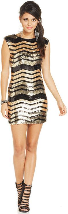 As U Wish Juniors' Sequin Bodycon Dress on shopstyle.com