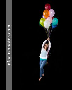 Class of 2015 high school senior with balloons. Senior Photos by nFocus Photos in Crystal Lake, IL