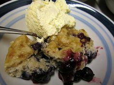 my blueberry cobbler.