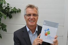 #LWF General Secretary Rev. Dr Martin Junge holds a copy of the Reformation booklet in Spanish. #Day169 until the Twelfth Assembly. #Assembly365