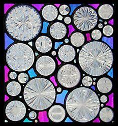 Google Afbeeldingen resultaat voor http://www.dmstainedglass.com/images/gallery/artpanels/prismatic_rounds_dichroic.jpg
