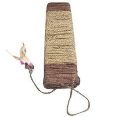 HAKUMA Cat Toys Natural Sisal und Seegrass Wrapped Scratching Board Scratcher with Feather/Ball Toy(45*10*2.5cm,Random Delivery) ^^ To view further, visit now : Cat scratcher Cat Scratcher, Sisal, Cat Toys, Feather, Delivery, Random, Cats, Natural, Board