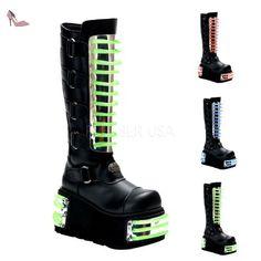 Demonia TECHNO-854UV Blk Pu UK 10 (EU 43 ) - Chaussures demonia (*Partner-Link)