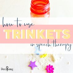 Today, you're getting double the ideas for the price of one 😉 I'm excited to share some ways you can use mini objects, aka trinkets, aka dinky doo dads, in speech, as well as, recycle some summer time items. There is something about these tiny, colorful items that just compels kids to dive in and …