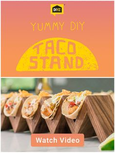 Don't fumble with your tacos. This DIY taco stand is a great for watching any game. Jump and cheer as much as you want, these babies aren't going anywhere. Get started with DIYZ® now.