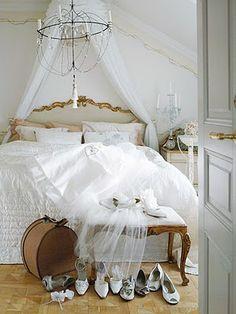lovely white bedding