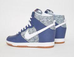 #Nike Dunk Sky Hi Liberty Blue White #Sneakers