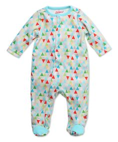Take a look at this Gray & Blue Triangulum Footie - Infant today!