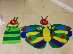 The Very Hungry Caterpillar Costume | Beautiful Butterfly Costume DIY