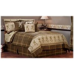 """Browning Buckmark Bedding Collection - Square Logo Pillow Brown - 20""""x20"""""""
