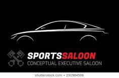 Car Logo Design, Saloon, Car Logos, Pasta, Concept, Silhouette, Vectors, Icons, Automotive Logo