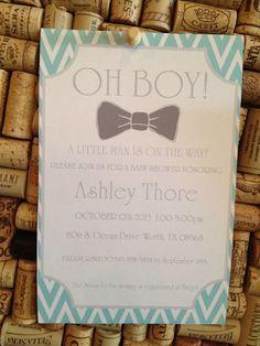Baby Shower Invitations Bowtie Boy