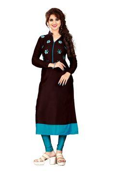 New Stylish Look Indian Style Kurti With Beatiful Design With Attractive Look. Mirror Work Kurti, Loose Shirts, Indian Fashion, Midi Skirt, Dresses For Work, Stylish, Designer Kurtis, Fair Price, Skirts