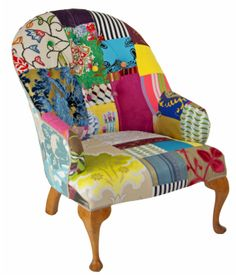 Only one off patchwork chairs available at creativehearts.com.au Patchwork is making an appearance in another way, this time on the humble vintage chair. Yep, patchwork is having a resurgence, but in a fresh new way.