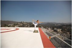 This helipad is your yoga studio, with 360-degree views of Los Angeles ...