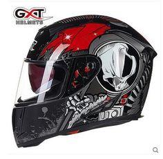 d6754d223c404 GXT white red Skull motocross full face Helmet