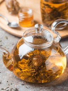 Blooming tea is a lovely bundle of tea buds skilfully hand-crafted around dried flowers.You will find a wonderful collection of blooming teas here. Teas, Beverage, Brewing, Tea Pots, Bloom, Happiness, Create, Unique, Hot