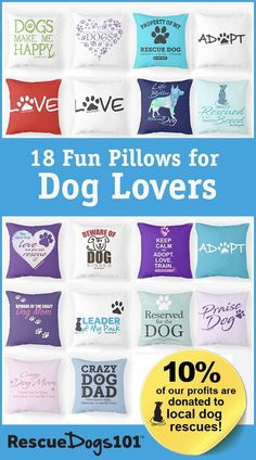 adb3154bb 18 fun throw pillows for the dog lover. Great for gifts or to decorate your