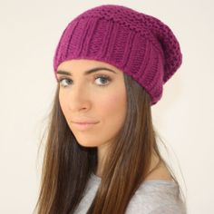 Perfect slouchy in raspberry