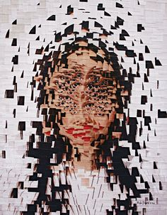 We're seeing a lot more ways to do a portrait, thanks to electronic manipulation.  This one shows an anxious person, just before she takes Xanax.  The story claims everyone in New York, or at least all the overachievers, take chill pills.  Illustration by Lola Dupré, based on an original photograph by Shaun Kardinal