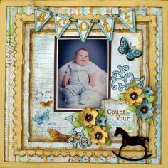 baby boy scrapbook pages | baby boy - Scrapbook.com | scrapbooking pages