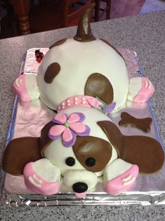Doggy Cake for a Doggy Lover. Great template for any dog or puppy fan!