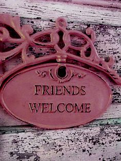 Lovely to hang by your Front door-- or gate, if you have one.