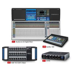 PreSonus StudioLive 32 Tour and Stage EarMix Monitor and Switcher Package Signal To Noise Ratio, In Ear Monitors, Phantom Power, Xmax, Dynamic Range, Stage, Packaging, Digital, Medium