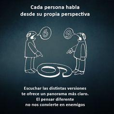 Cada persona habla desde su propia perspectiva....