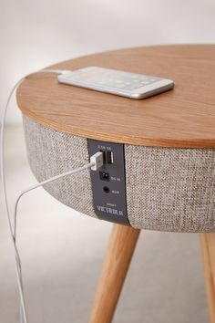 Slide View: Victrola Bluetooth Speaker Table SP Home Design Smart Furniture, Rustic Furniture, Living Room Furniture, Antique Furniture, Table Furniture, Outdoor Furniture, Furniture Ideas, Furniture Outlet, Luxury Furniture