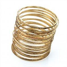 Coil Gold Bangle, by ingoma.co.uk