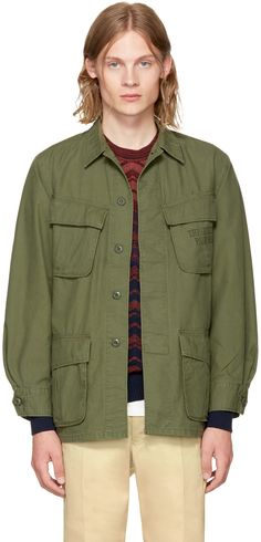 bb1428a9ff99 WACKO MARIA Khaki Type 5 Fatigue Jacket.  wackomaria  cloth  jacket