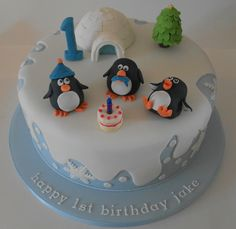 Winter Wonderland cake for a first birthday | Flickr - Photo Sharing!
